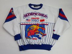 Vintage USA vs Russia 'Miracle On Ice' 1980 Olympics Hockey sweatshirt made by Starter