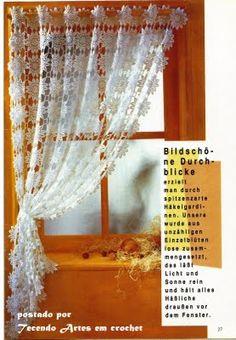 .Gardine häkeln - crochet curtain - cortinas