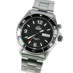 I feel compelled to share with you guys an amazing dive watch that is quite cheap (for an automatic watch that is). Introducing the Orient Black Mako, a stylish diver/sports automatic watch. Being an automatic watch, it does not need a battery to run. Instead it uses the hand movement to keep the watch running. This watch is by Orient, a highly respectable Japanese watch maker. For just about $200, it is truly a fantastic automatic watch.