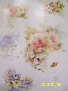 """China Painting Study 67 """"Florals"""" Helen Humes 3 Pages 
