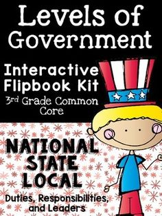 This is a brand new addition to my family of interactive flipbooks! This one is designed to have your students record their learning in a fun way during a unit on our government. With this product, students will work their way through facts about the levels of government--state, local, and national government.
