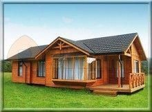 Comprar Casa de madera Modelo: Licanco 2B #CabañasCampestres Cottage Design, Tiny House Design, House In The Woods, My House, One Room Cabins, Backyard Guest Houses, Futuristic Home, Tiny House Nation, Bamboo House