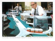 Disneyland Model of Tomorrowland featuring the PeopleMover and Adventure Thru…