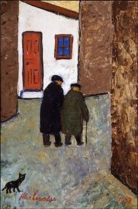 Back Street in St. Ives by Alan Lowndes
