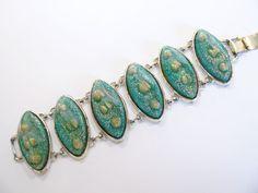 Ultimate Vintage Chunky Mermaid's Thermoset Bracelet #Mermaid
