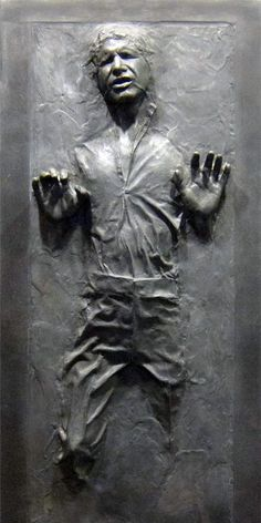 Creative sticker will transform any door into three-dimensional Han Solo who has been frozen in carbonite.