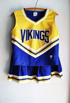 HALLOWEEEN - Cheerleading Uniform Vikings Purple and Yellow // Sz lg on Etsy, $30.00 *** SOLD