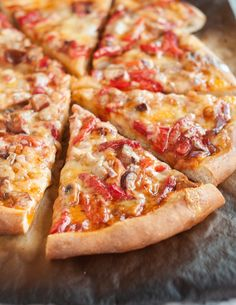 Recipe: Pizza with Roasted Red Peppers, Sausage & Jack Cheese — Recipes from The Kitchn