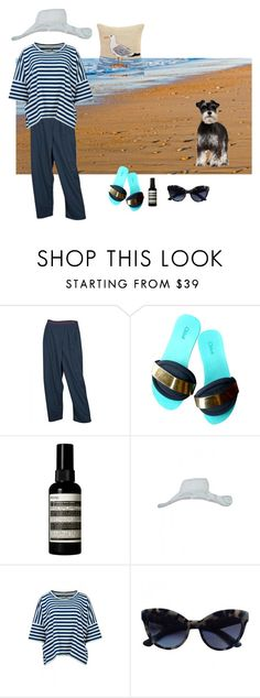 """""""sea and sand"""" by karen-style ❤ liked on Polyvore featuring Aesop, Annette Görtz, Prada, Thos. Baker, TMcollection, annettegortz and MAMAB"""