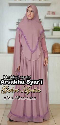 Gamis Pesta Syar'i Arsakha Syari Dress (Ready Stock Dan Made By Order) Muslim Dress, Hijab Styles, Scarfs, Hijab Fashion, Dan, Dresses, Lace, Teepees, Vestidos