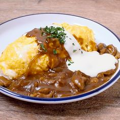Omurice Recipe, Clean Recipes, Cooking Recipes, Finger Food Catering, Kawaii Cooking, Good Food, Yummy Food, Tasty Videos, Western Food