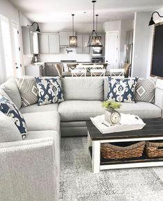 Awesome 99 Cool Farmhouse Living Room Decor Ideas. More at http://99homy.com/2018/03/27/99-cool-farmhouse-living-room-decor-ideas/