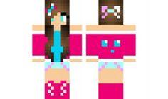 skins de chicas pixel gun - Buscar con Google Minecraft Pe, Minecraft Skins, Love Craft, Slime, Pink, Crafts, Statues, Gaming, 3d