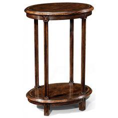 Jonathan Charles Dark walnut oval lamp table