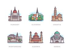 Some countries of Europe designed by Yegor Meteor. Connect with them on Dribbble; Vienna Map, Cake Logo Design, City Icon, Insta Icon, Travel Icon, Usa Tumblr, House Drawing, Instagram Highlight Icons, Cute Stickers
