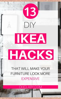 Are you looking for some DIY IKEA Hacks? I have compiled a list of 13 most beautiful IKEA Hacks that anyone can do. These Ikea hacks are perfect for creating storage and making your furniture look amazing on a budget! Ikea hacks bedroom   Ikea hacks living room   Ikea hacks for kids.