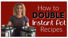 How to double Instant Pot recipes: Do you have a large family and want to double an Instant Pot recipe? Want to know if you need to change the cooking time? Instant Pot Pressure Cooker, Pressure Cooker Recipes, Pressure Cooking, Cooking Tools, Cooking Time, Slow Cooking, Large Family Meals, Dried Beans, How To Double A Recipe