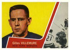 Gilles Villemure - New York Rangers. Pro Hockey, Hockey Players, Hockey Cards, Baseball Cards, New York Rangers, A Decade, Nhl, 1930s, Cards