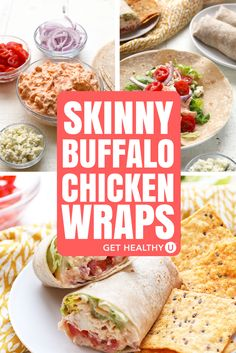 This recipe for Skinny Buffalo Chicken Wraps is a lightened up version of a classic, and is the perfect protein-packed, full-of-veggies, on-the-go lunch! It takes just 10 minutes to prep, then you pop it in the oven and voila! 2 hours later you've got your lunches this week sorted!