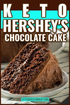 Hershey Chocolate Cakes, Keto Chocolate Cake, Low Carb Deserts, Low Carb Sweets, Ketogenic Desserts, Keto Snacks, Keto Foods, No Carb Recipes, Sweet Recipes