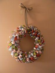 Crafty Christmas Wreath   AllFreeChristmasCrafts.com