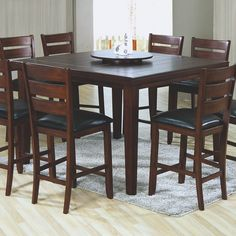 Gentil Monarch Specialties Largest Bar, Pub Tables U0026 Sets Collection: The Dark Oak  Finish, Top Grooved Slat Design And Lazy Susan Feature Make This Dark Oak  Veneer ...