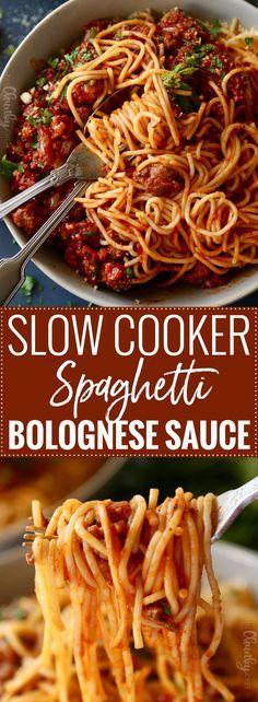 Crock Pot Slow Cooker, Crock Pot Cooking, Slow Cooker Recipes, Crockpot Recipes, Cooking Recipes, Slow Cooker Spag Bol, Delicious Recipes, Pasta Recipes, Tasty