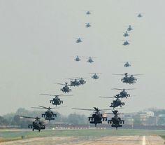 A total of 24 AH-64s perform a mass landing at Camp Humphreys South Korea 18th April 2014 [1200x1057]