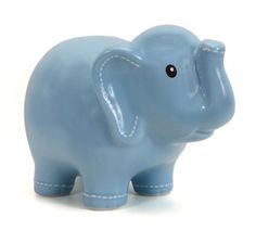 Keep your savings safe with the Personalized Elephant Bank! The original, elephant-shaped design is perfect for a nursery, baby shower, birthday and every occasion in between. Available in pink, blue, green, gray and white.