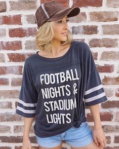 Our LIMITED EDITION FOOTBALL NIGHTS & STADIUM LIGHTS slouchy jersey is here! S... #edition #football #lights #limited #nights #slouchy #stadium