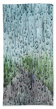 Rainy Day Hand Towel for Sale by Faye Anastasopoulou Fusion Art, Theme Pictures, Large Beach Towels, Ocean Scenes, Pattern Pictures, Bath Sheets, My Themes, Basic Colors, Artist At Work