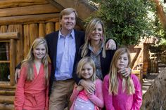 King Willem-Alexander of Netherlands and Queen Maxima of Netherlands, along with their daughters, Princesses Alexia, Amalia and Ariane at a national park Los Arrayanes in Villa La Angostura city, Argentina, 22 December 2014