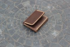 Handmade Trifold Leather Wallet - Made in America (Minnesota) - $120 - Hand stitched and fully handcrafted made using Horween Leather