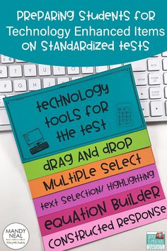 FREE posters and flipbook to prepare students for technology on standardized tests!!