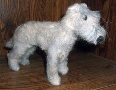 Needle Felted Irish Wolfhound by KathysCraftShop on Etsy