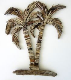 Driftwood Double Palm Tree by BeachwoodDreams on Etsy