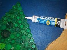 glue for bottle cap mural