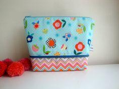 Floral Cotton   wash bag  toiletries bag  handmade  by GerdaBags