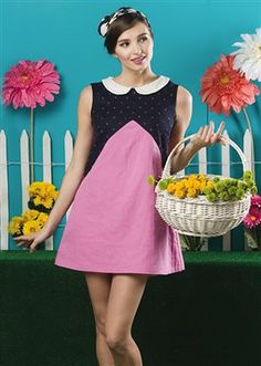 Free Sewing Pattern: Easy Sew A-line Mini Dress - Sizes XS-XL. http://www.sewdaily.com/sewing-patterns-and-projects/dresses/a-line-mini-dress