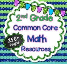 In this HUGE 250+ page bundle, you will receive a zip file that contains EVERY 2nd Grade Common Core Math resource in my store! This includes my Story Problems Bundle (Best Seller!), Assessments for ALL Standards, a bundle filled with array activities….. and so much more!