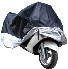 Product review for Docooler Motorcycle Bike Moped Scooter Cover Waterproof Rain UV Dust Prevention Dustproof Covering - This motorcycle cover is made of 180T polyester taffeta, with waterproof processing. It is lightweight and easy to carry. With a storage bag, it can be folded into it when not in use. It is really a good choice for your motorcycle. Specifications: Color: black & red Material: 180T polyester...
