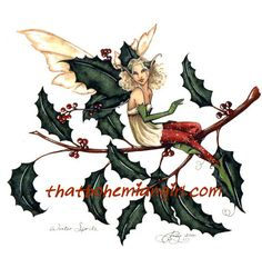 Winter Sprite Fairy Print by Amy Brown. Measures 8-1/2 x 11 inches... Out of Print... very few remaining in stock.