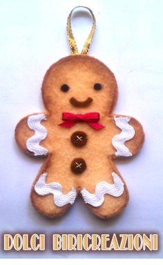 gingerbread man di pannolenci