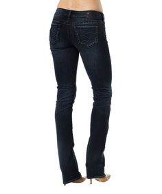 Look at this Dark Indigo Aiko Baby Bootcut Jeans - Women on #zulily today!