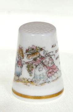 Reserve for Betsy Vintage Royal Doulton Brambly Hedge Thimbles the Four Seasons