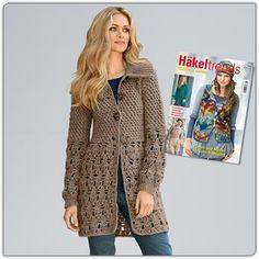 Modell 114/2, Häkeljacke aus Achat von Junghans-Wolle « Damenmodelle « Häkelmodelle « Stricken & Häkeln im Junghans-Wolle Creativ-Shop kaufen