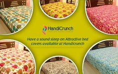 Buy Handmade Bed Cover from Handicrunch to decor your home and add value to your home decoration .