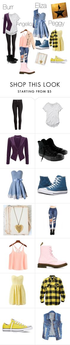 """""""The Schuyler Sisters Modern"""" by junoeclipse ❤ liked on Polyvore featuring H&M, Abercrombie & Fitch, CO, Converse, Dr. Martens, Simone Perele and modern"""