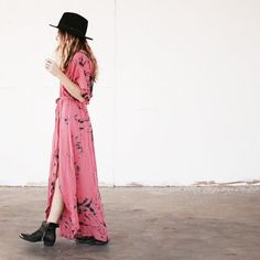 robe longue rose boho