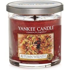 Yankee Candle Harvest Tumbler ($20) ❤ liked on Polyvore featuring home, home decor, candles & candleholders, candles, filler, decor, autumn wreath, harvest home decor, fragrance candles y pumpkin scented candles